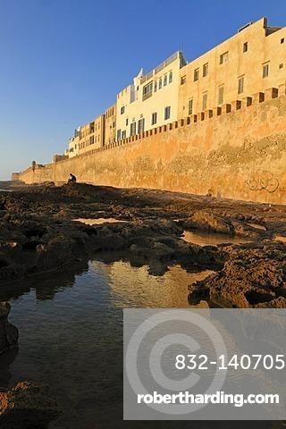 Sqala de la Kasbah, seawall of historic town Essaouira, Unesco World Heritage Site, Morocco, North Africa