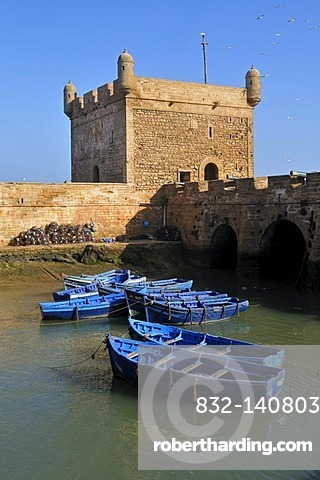 Portuguese fortress in the old town of Essaouira, Unesco World Heritage Site, Morocco, North Africa, Africa