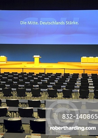 22th party convention of the CDU, Stuttgart, Baden-Wuerttemberg, Germany, Europe