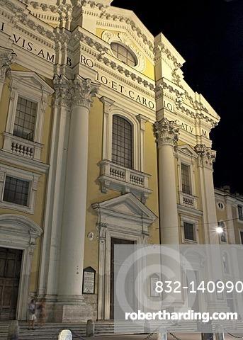 Church San Carlo al Corso, Santi Ambrogio e Carlo al Corso, Giovan Giovanni Battista Menicucci, 1682 - 84, Via del Corso, Rome, Italy, Europe