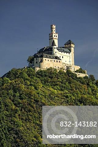 Marksburg Castle, Braubach, romantic Middle Rhine Valley, UNESCO World Heritage Site, Rhineland-Palatinate, Germany, Europe