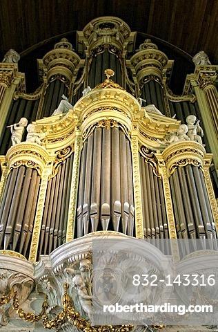 Pieter van Assendelft organ from 1750, Sint Stevenskerk, St. Stevens Church, Nijmegen, Netherlands, Europe