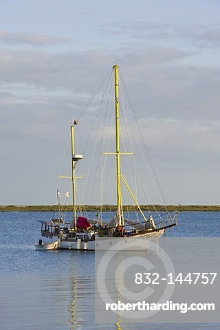 Sailboat, Olhao, Algarve, Portugal, Europe