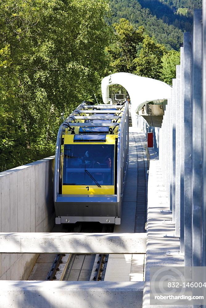 Hungerburgbahn, a hybrid funicular railway, Innsbruck, Tyrol, Austria, Europe