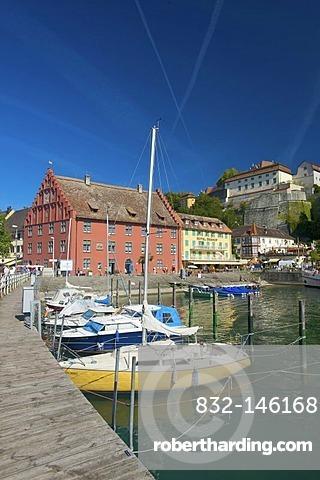 Port of Meersburg, Lake Constance, Baden-Wuerttemberg, Germany, Europe