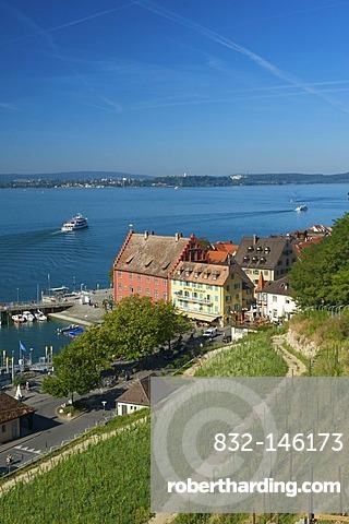 Port of Meersburg, Lake Constance, Baden-Wuerttemberg, Germany, Europe