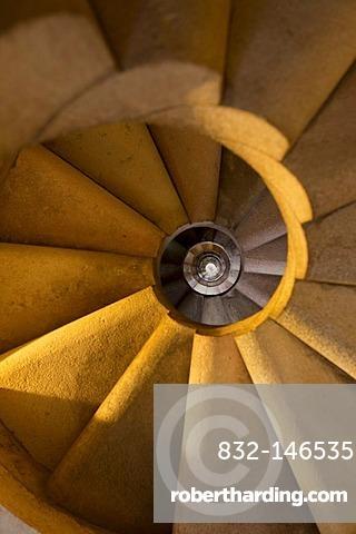 Spiral staircase, Sagrada Familia, Barcelona, Catalonia, Spain, Europe