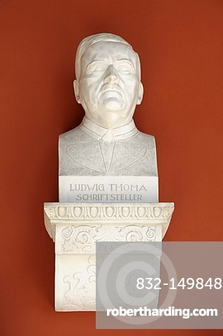 Bust, Ludwig Thoma, writer, Ruhmeshalle, Hall of Fame, Theresienwiese, Munich, Bavaria, Germany, Europe