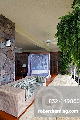 Suite, Jade Mountain luxury hotel, Saint Lucia, Windward Islands, Lesser Antilles, Caribbean, Caribbean Sea