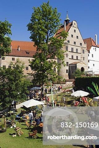 Garden Festival at Burg Trausnitz Castle, Landshut, Bavaria, Germany, Europe