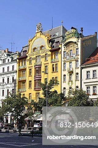 Meran Hotel, Grand Hotel Europa, Wenceslas Square, Old Town, Prague, Czech Republic, Europe