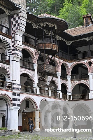 Orthodox Rila Monastery, UNESCO World Heritage Site, Bulgaria, Europe