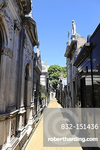 Tombs, La Recoleta Cemetery in Buenos Aires, Argentina, South America
