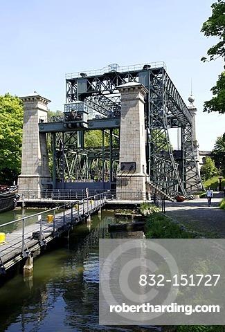 Old ship lift, Waltrop, Ruhrgebiet region, North Rhine-Westphalia, Germany, Europe