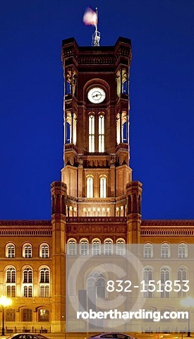 Rotes Rathaus, red town hall, Berlin-Mitte, Berlin, Germany, Europe