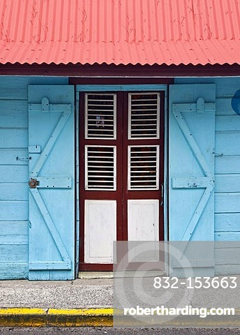House in Pointe-Noire, detail, west coast of Basse-Terre, Guadeloupe, French Antilles, Lesser Antilles, Caribbean
