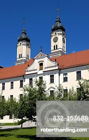 Roggenburg Abbey, Neu-Ulm district, Schwaben, Bavaria, southern Germany, Germany, Europe