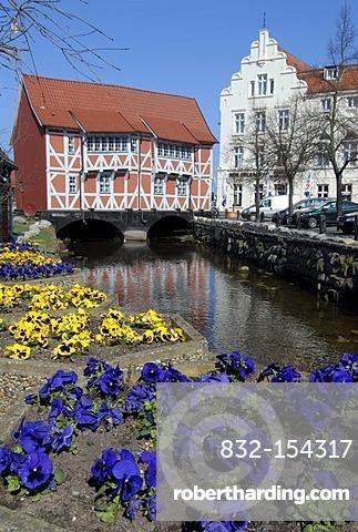 Old buildings, Wismar, Mecklenburg-Western Pomerania, Germany, Europe