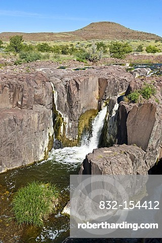 Gorge with a waterfall in the Palmwag Concession, Namibia, Africa