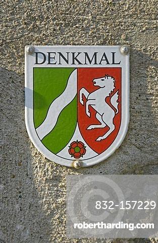 Denkmal, listed building, sign, North Rhine-Westphalia, Germany