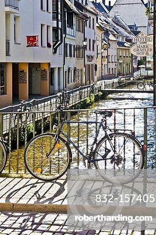 Fischerau, old town, Freiburg, Baden-Wuerttemberg, Germany, Europe