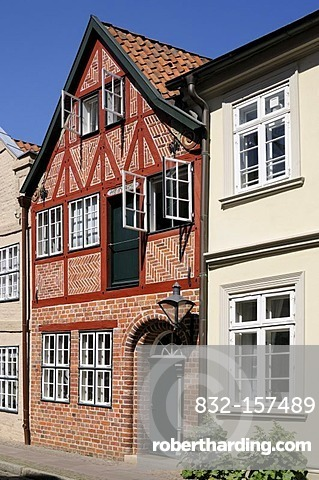 Half-timbered house in Lueneburg, Lower Saxony, Germany, Europe