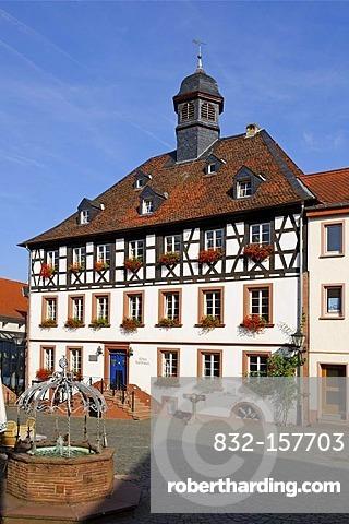 Town hall, Rathausplatz, town hall square, Ottweiler, Saarland, Germany, Europe