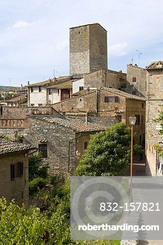 City view of San Gimignano, UNESCO World Heritage Site, Tuscany, Italy, Europe