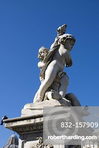 Putti on the Piazza del Duomo square, Pisa, Tuscany, Italy, Europe