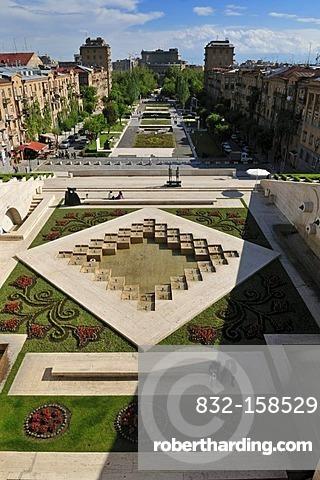 Cascade complex at downtown Yerevan, Jerewan, Armenia, Caucasia, Caucasus, Asia