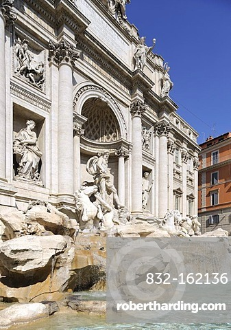 Fontana di Trevi, Trevi Fountain, Rome, Lazio, Italy, Europe