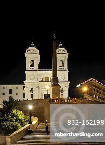 Spanish Steps and Trinita dei Monti, Rome, Italy, Europe