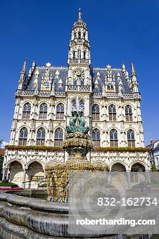 City Hall in Oudenaarde, Belgium, Europe