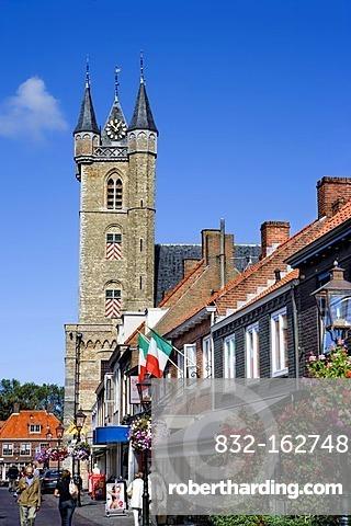 Belfry in Sluis, Netherlands, Europe