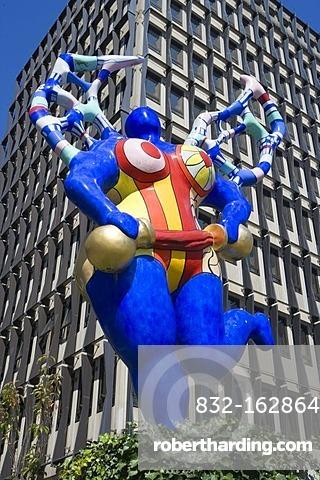 Art piece of Niki de Saint Phalle, Luxembourg, Europe