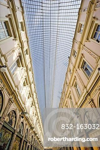 Shopping arcade, Royales Saint Hubert galleries, Brussels, Belgium, Europe