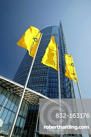 Posttower skyscraper, headquarters of the Deutsche Post AG German mail, Bonn, North Rhine-Westphalia, Germany, Europe