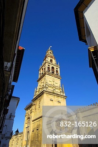 Minaret tower of the Great Mosque, Cordoba, Andalusia, Spain, Europe