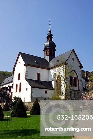 Basilica, abbey church, Eberbach Monastery, Eltville on Rhine River, Rheingau, Hesse, Germany, Europe