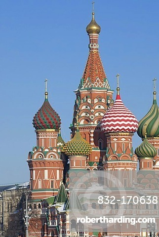Domes of Saint Basil Cathedral, Moscow, Russia