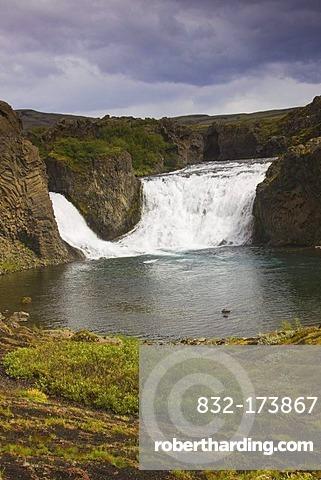 Hjalparfoss waterfalls, south Iceland, Iceland, Europe