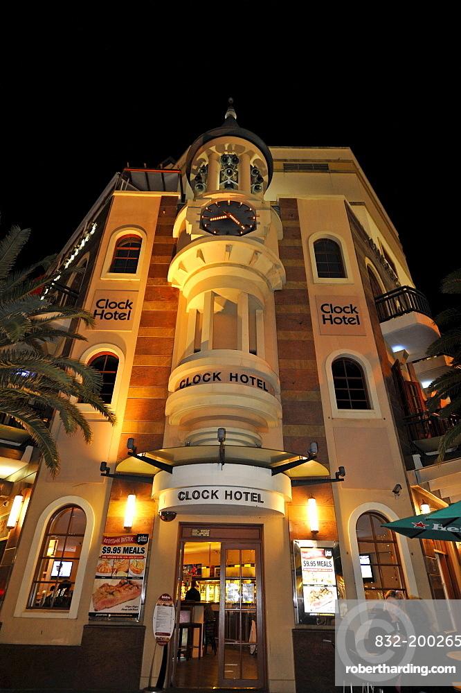Clock Hotel, night shot, Surfers Paradise, Gold Coast, New South Wales, Australia