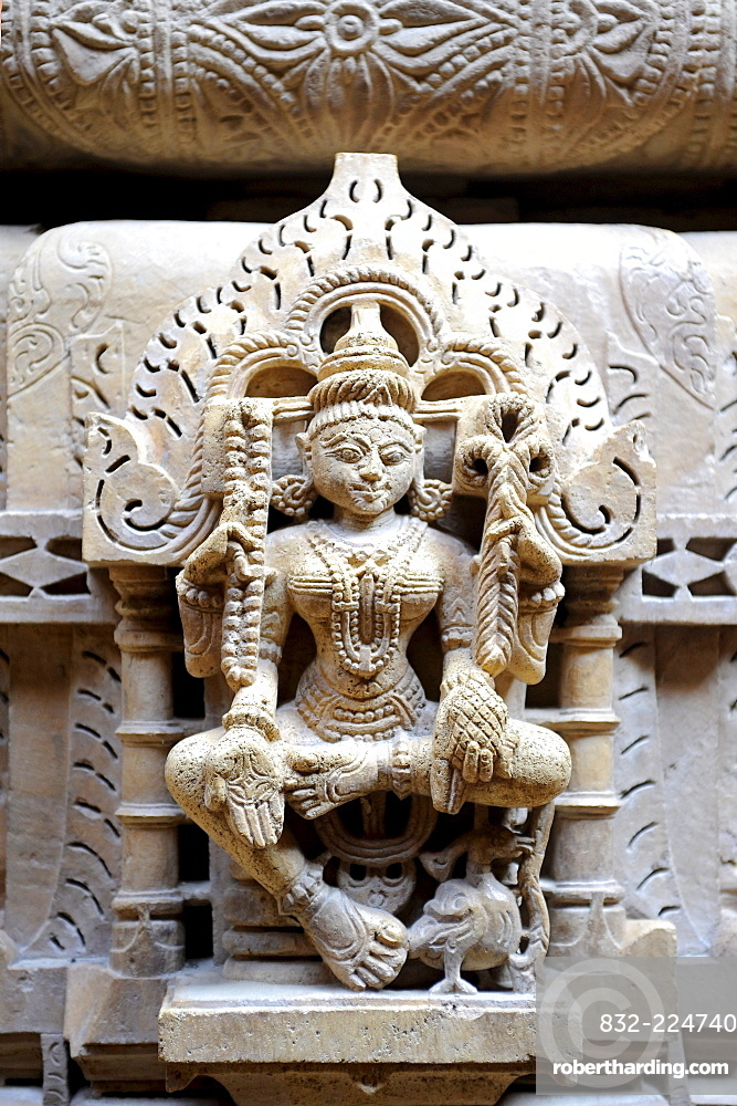 Sculpture in a Jain Temple, Jaisalmer, Rajasthan, North India, India, South Asia, Asia