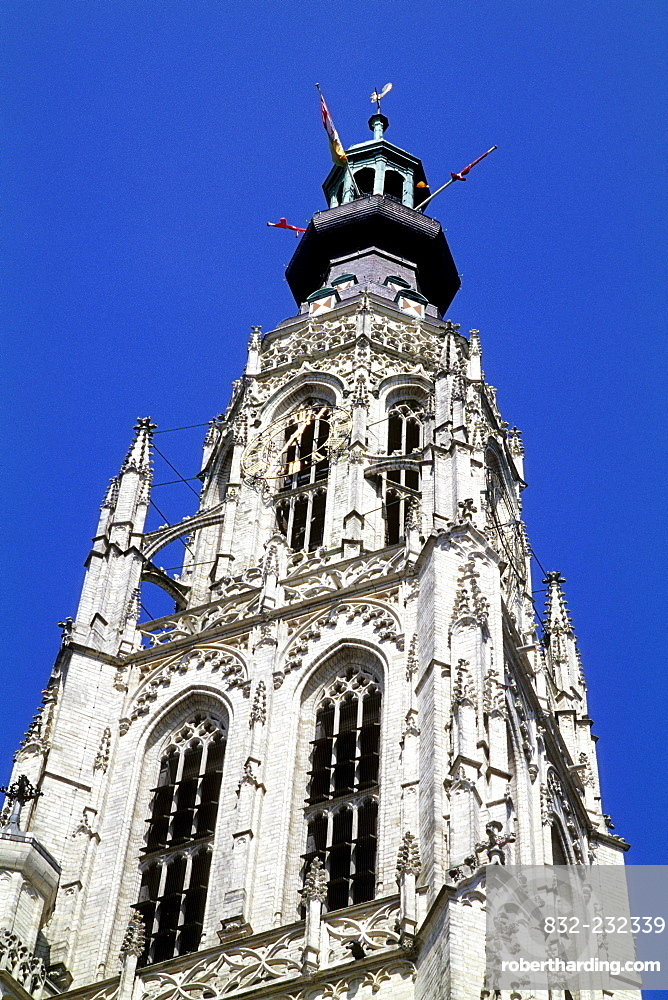 Onze Lieve Vrouwe Kerk, Church of Our Lady, Grote Kerk, a Gothic church on Grote Markt square, Breda, Province of North Brabant, Noord-Brabant, Netherlands, Benelux, Europe