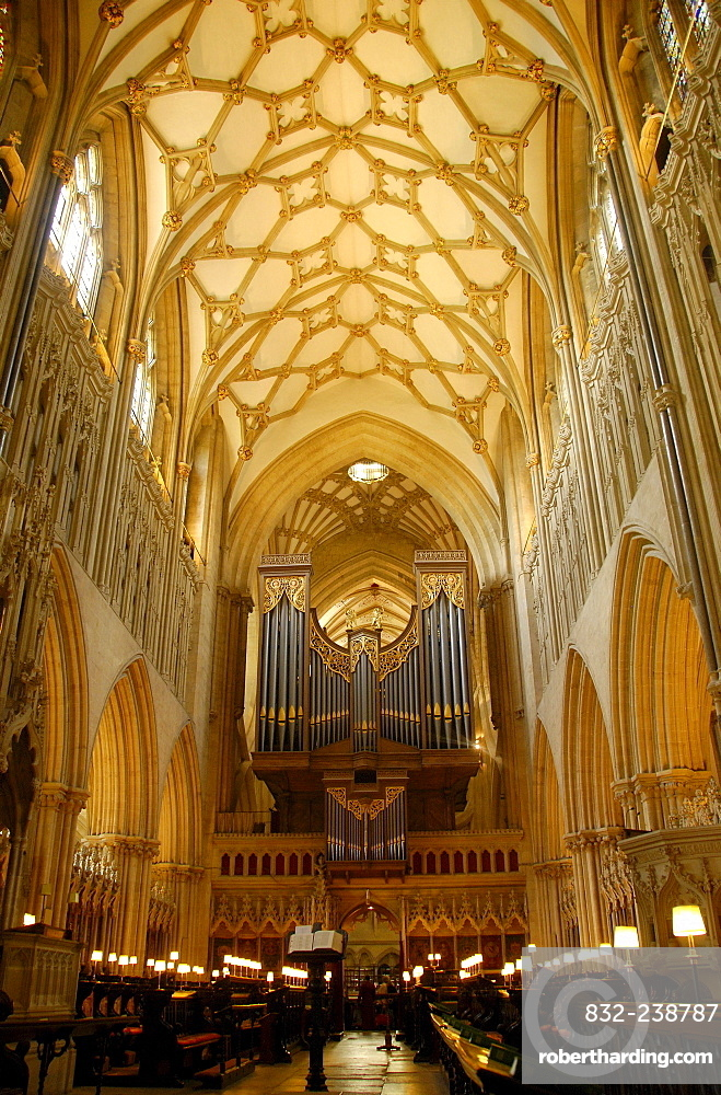 Sanctuary of St. Andrew's Cathedral, Wells, Somerset, England, UK