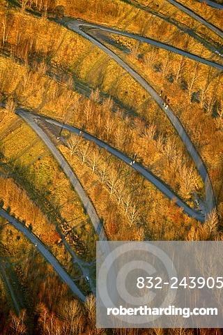 Aerial view of Tetraeder, Bottrop, Ruhr Area, North Rhine-Westphalia, Germany, Europe