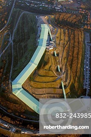Aerial photo of the Alpin Center ski hall, Bottrop, Ruhr Area, North Rhine-Westphalia, Germany, Europe