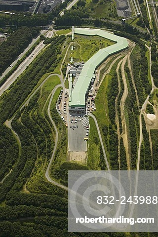 Aerial photo of the Alpin Center ski hall, Bottrop, Ruhr Area, North Rhine-Westphalia, Germany, Europe