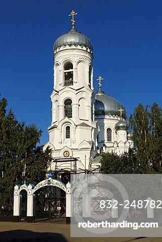 Russian-orthodox Cathedral in Bijsk, Siberia, Russia, Asia