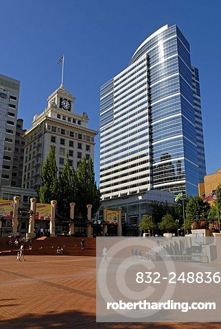 Pioneer Courthouse Square, Downtown, town centre of Portland, Oregon, USA
